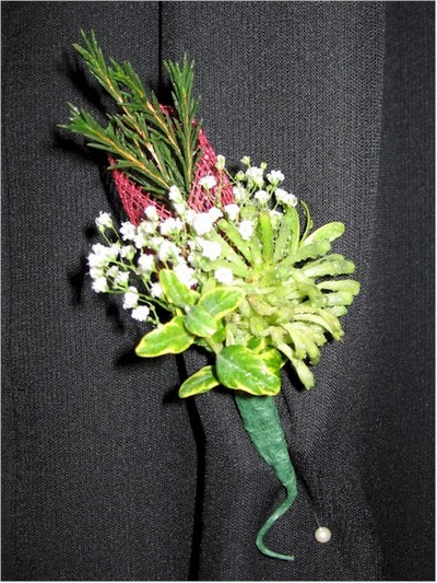 wedding boutonniere, corsage - CO01 CD $21