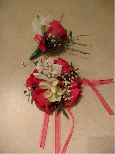 wedding boutonniere, corsage - CO11 CD $64
