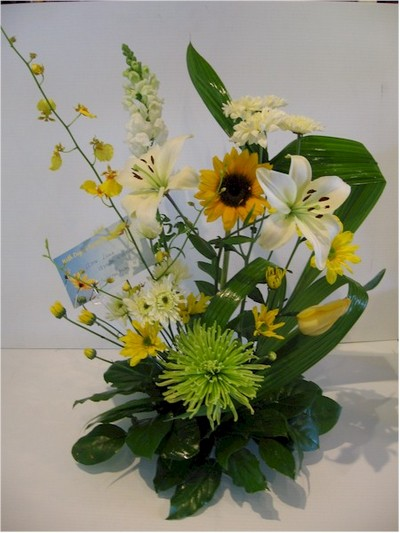 congratulation flowers - FE11 CD $62
